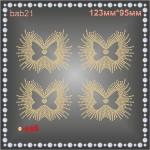 Бабочка из страз (4шт/л).