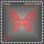 Бабочка из страз (1шт/л).