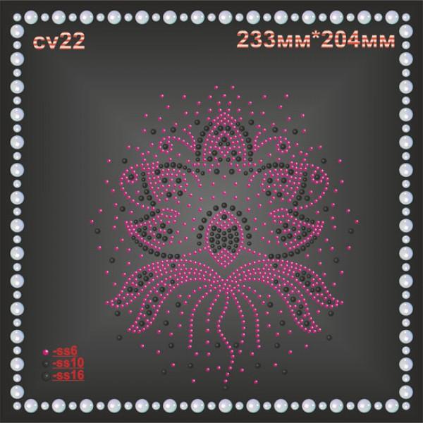 Цветок из страз (1 шт/л).