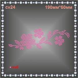 Цветок из страз (4шт/л).