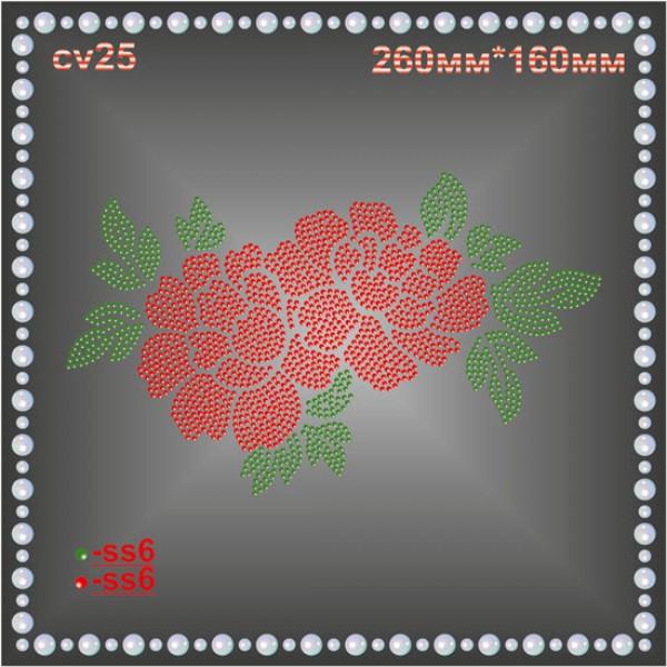 Цветы из страз (1 шт/л).