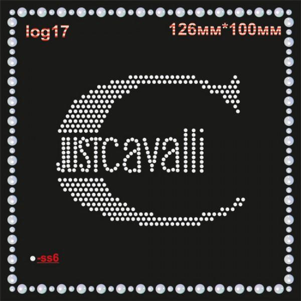 "Аппликация из страз ""JUST CAVALLI"" (4шт/л)."