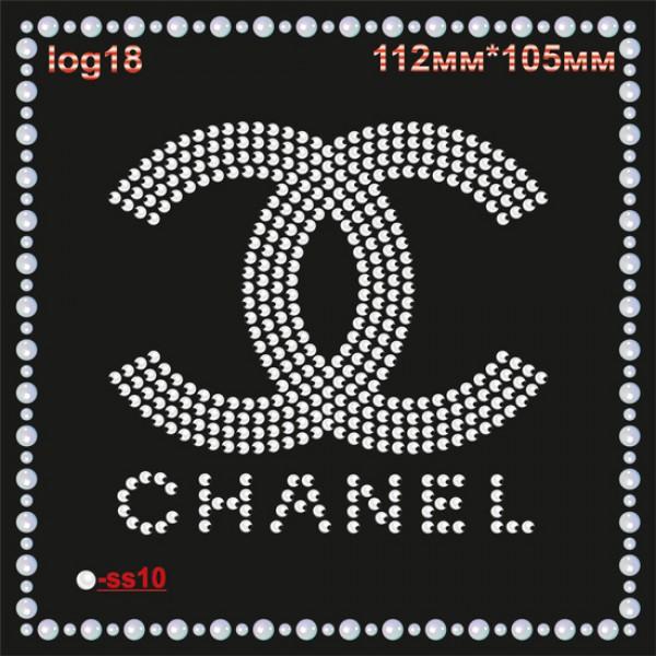 "Логотип из страз ""Chanel"" (4шт/л)."