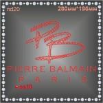 "Надпись из страз ""Pierre  Balmain"" (2шт/л)."