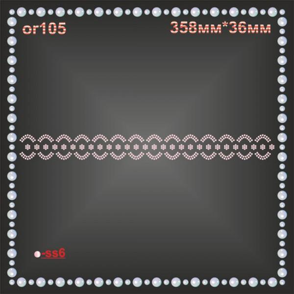 Орнамент из страз (4 шт/л).
