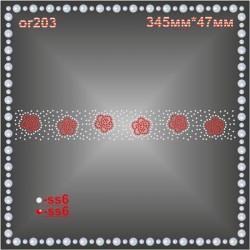 Орнамент из страз (3 шт/л).
