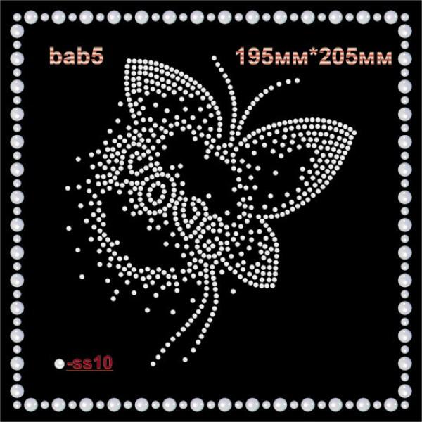 Бабочка из страз (2шт/л).