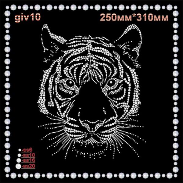 Аппликация из страз «Тигр» (1шт/л).
