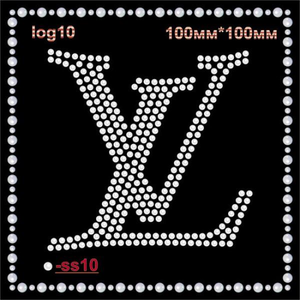 """Логотип из страз """"Louise Vuitton"""" (4шт/л)."""