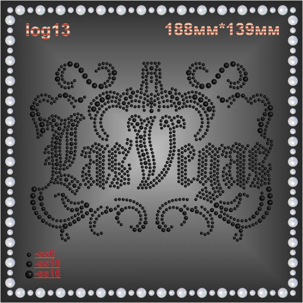 "Логотип из страз ""Las Vegas"" (2шт/л)."
