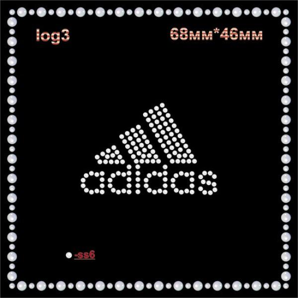 "Логотип из страз ""Adidas"" (12шт/л)."