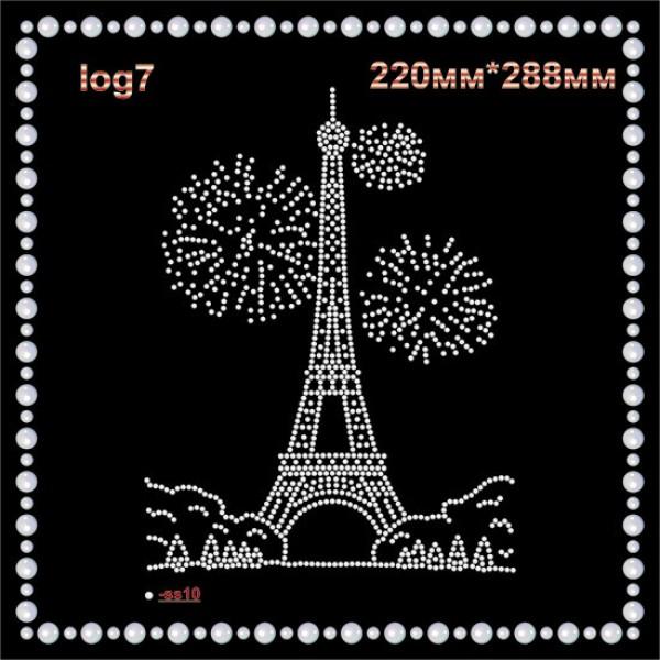 """Логотип из страз """"Эйфелева башня (1шт/л)."""
