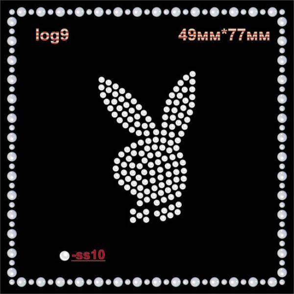 "Логотип из страз ""Playboy"" (9шт/л)."