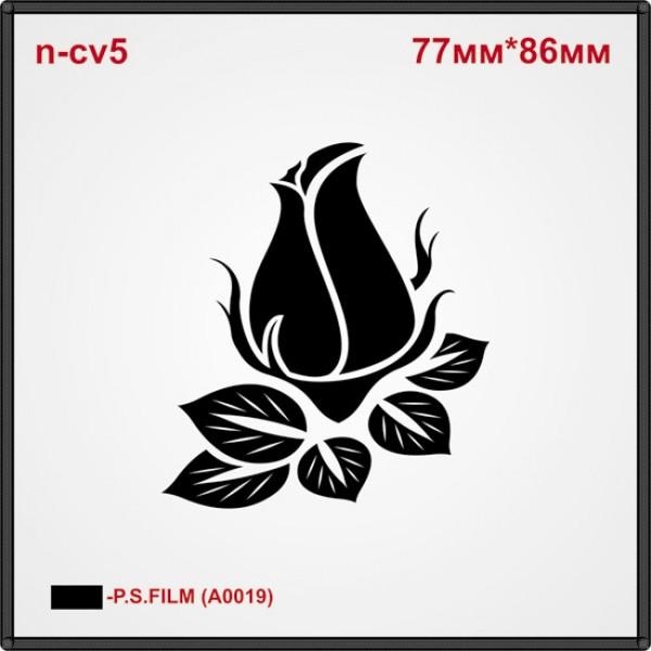 "Термоаппликация ""Бутон розы"" (21шт/л)."