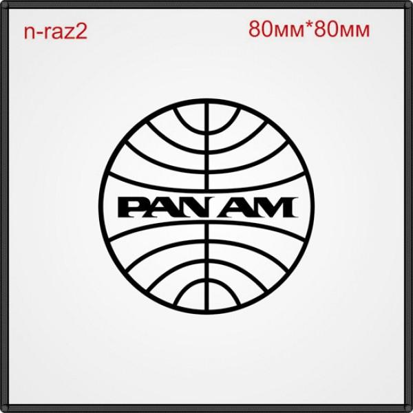 """Термонаклейка """"Pan am"""" (30шт/л)."""