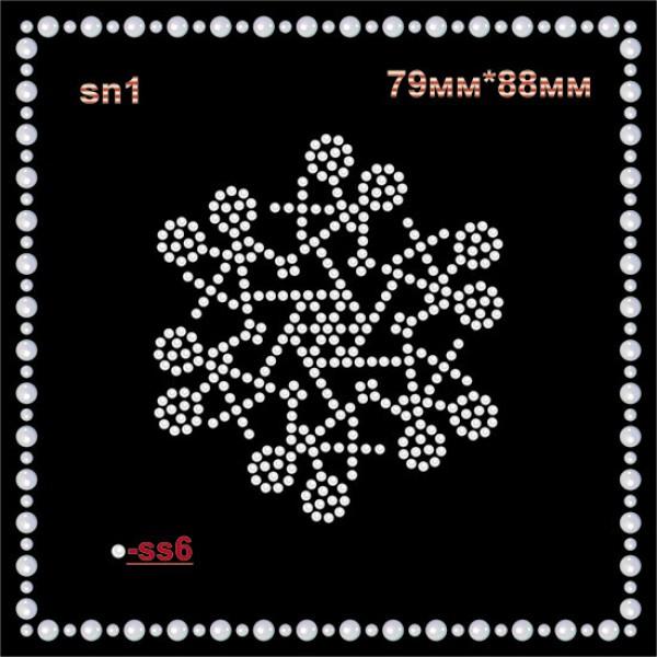 Снежинка из страз (6шт/л)